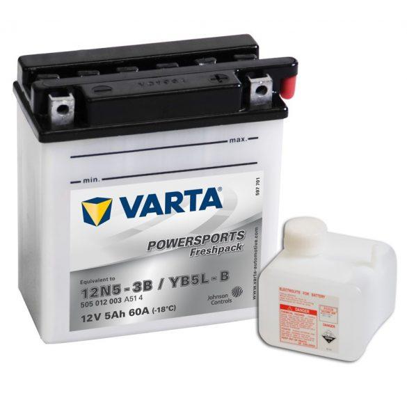 Varta - 12v 5ah - motor akkumulátor - jobb+ *YB5L-B