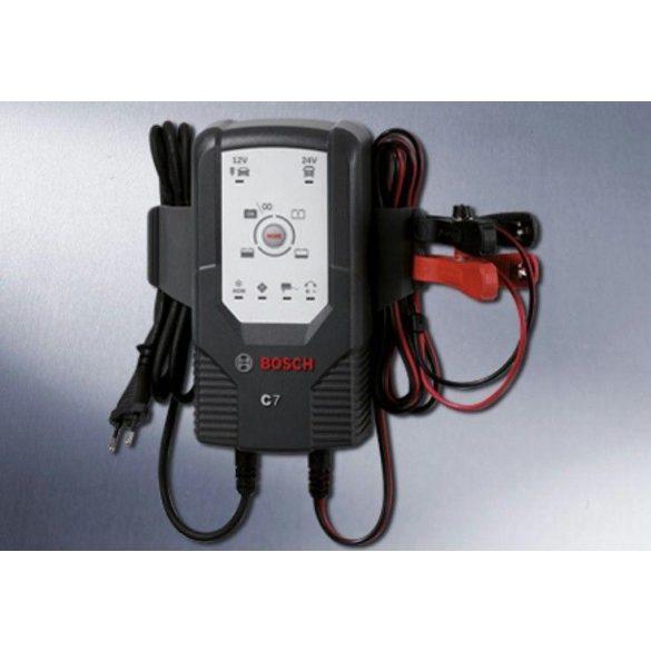 Bosch akkumulátor töltő C7  7A 12-24V