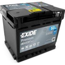 Exide Premium 12V 53 Ah 540A jobb+ EA530