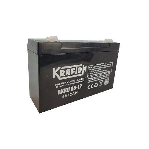 Long 6 V 12 Ah akkumulátor