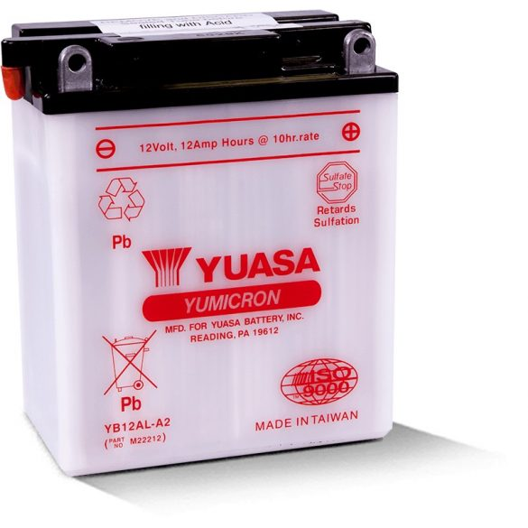Yuasa YB12AL- A2 12 V 12 Ah 165 A jobb +