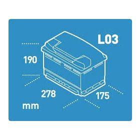 12V 70-80 Ah 278mm eu