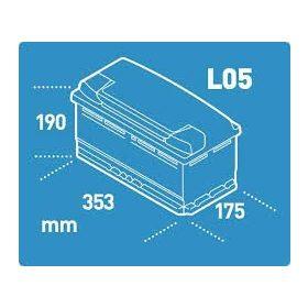 12V 90-100Ah 354mm eu