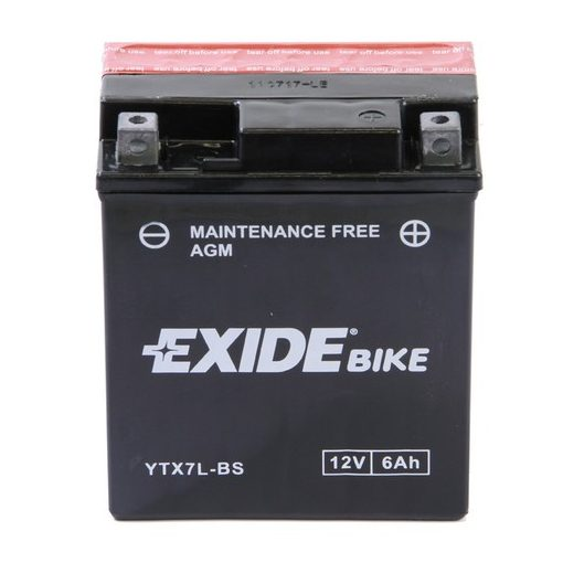 Exide YTX7L-BS 12V 6Ah bal+