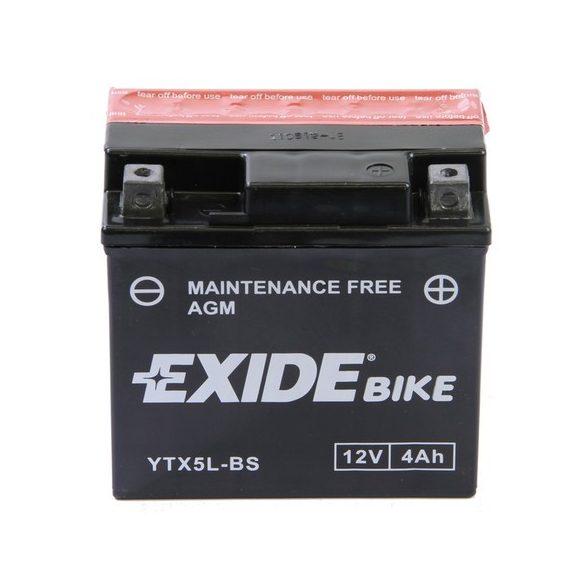 Exide YTX5L-Bs 12V 4 Ah jobb+