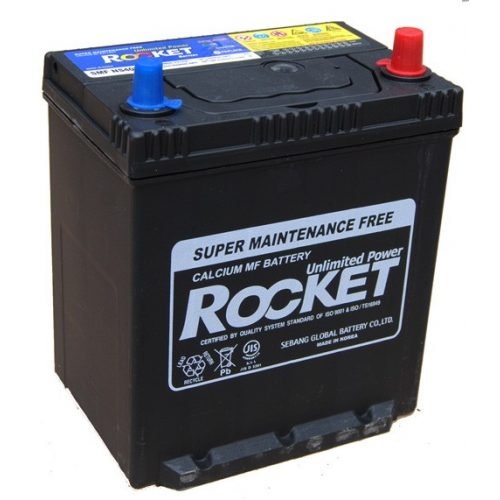 Rocket 12 V 40 Ah 330A jobb +  vékony saru KIA Picanto