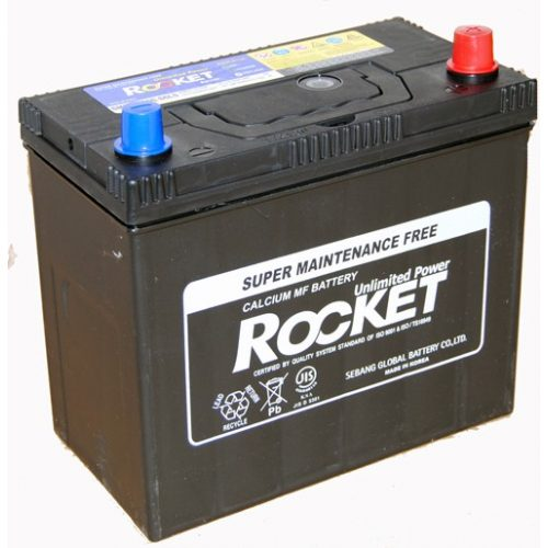 Rocket 12 V 45 Ah 430 A jobb + vastag saru