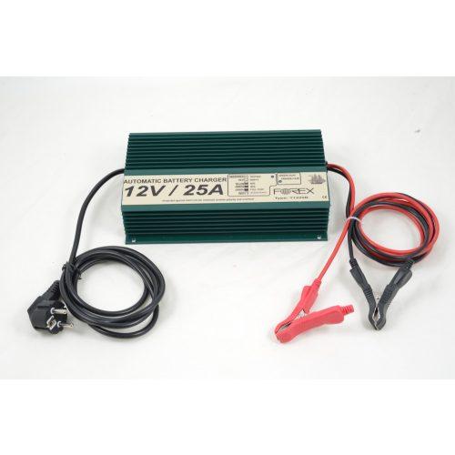 Forex akkumulátor töltő 12V 25A