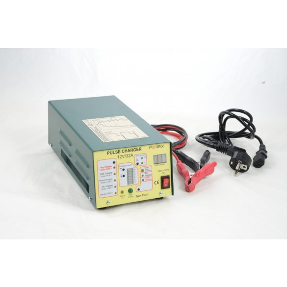 Forex  akkumulátor töltő 12V 32A