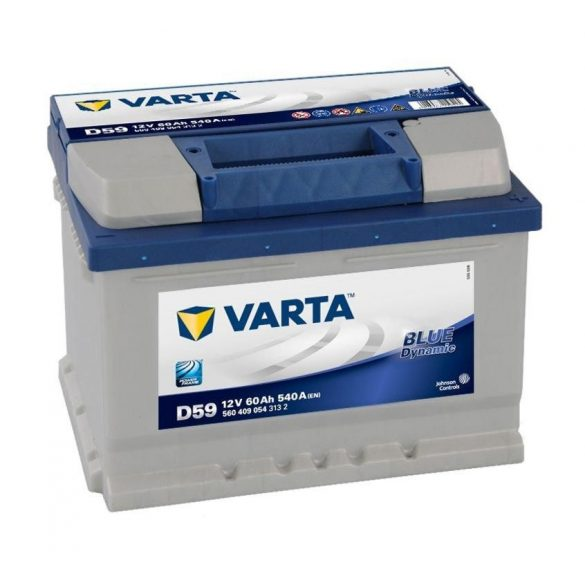 Varta Blue Dynamic 12 V 60 Ah 540 A jobb + (190 mm magas)