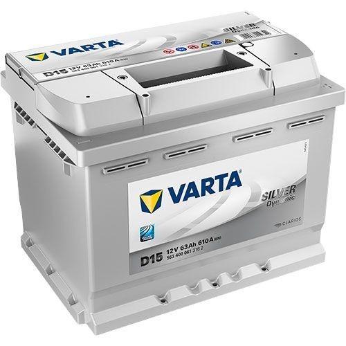 Varta Silver Dynamic 12 v 63 Ah 610 A jobb+