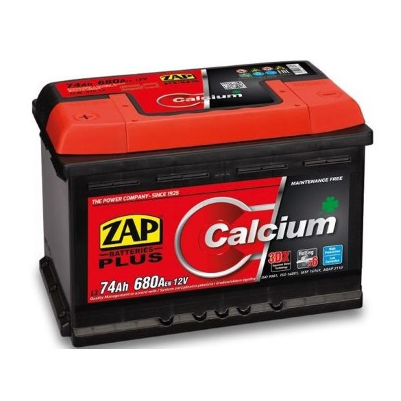 Zap Plus 12 V 74 Ah 680 A bal +
